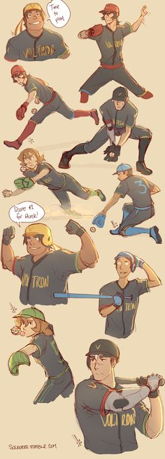 Voltron x Baseball by SolKorra; OH MOMMA LOOK AT THEM BOYS