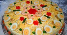 RECETAS DE MI MADRE Y MIAS: Tarta fría de patata con marisco