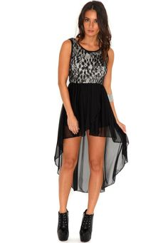 Hertes Sheer Asymmetric Lace Dress was-$40.18 but now $20.08 from |missguided| someone buy me this :')
