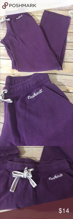 "Carhartt Purple Casual Pants Sz Small Cute comfy purple cotton/spandex pull on pants. Sz small, great condition. Waist 28"" inseam 29"". B61 Carhartt Pants Track Pants & Joggers"