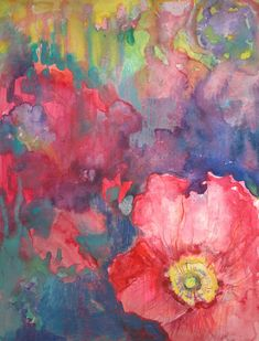 "Archival Print of Original Watercolor ""Rainbow Poppy"""