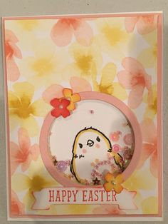 Stampin Up Easter shaker card