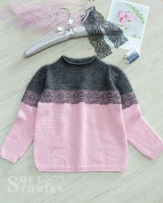 Hand Knit Angora Jumper Pink Polka Dot W - Diy Crafts - Marecipe Baby Boy Knitting Patterns, Knitting For Kids, Baby Knitting, Beginner Knitting, Pullover Jacket, Jumper, Diy Crafts Knitting, Knitting Projects, Knitting Dolls Clothes