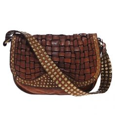 Sac épaule CAMPOMAGGI Marron en Cuir Handbags For Men, Fashion Handbags,  Leather Weaving, 86f265c6fe