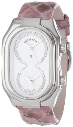 Philip Stein Women's 11-IDW-PP Prestige Diamond Dial Pink Python Strap Watch Philip Stein