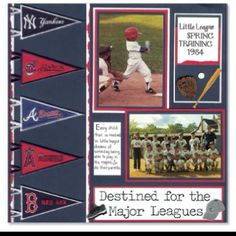 Sports - nice pennant border; could easily expand to 2 page layout