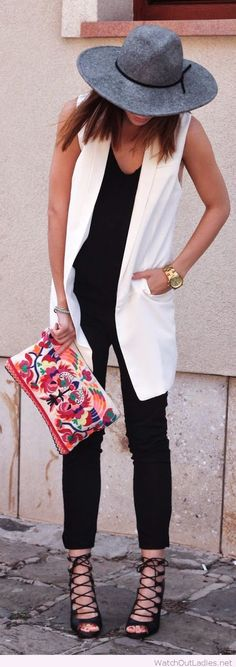White long line summer vest