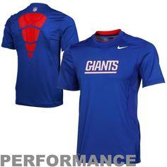 Antigua New York Giants Players Polo - Royal Blue
