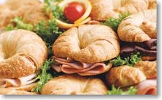 We could do this for the sandwich bar. Croissants are cheap in bulk at Costco. And they would be super filling.