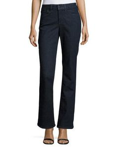 TCZMY NYDJ Barbara Boot-Cut Denim Jeans, Dark Enzyme