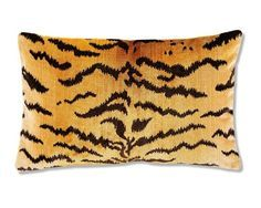 Scalamandre Tiger velvet pillow from Williams Sonoma Home