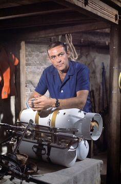 "Sean Connery as James Bond in ""Thunderball"" James Bond Movie Posters, James Bond Movies, Gentlemans Club, Tim Burton, Aston Martin, I Movie, Movie Stars, Sean Connery James Bond, James Bond Style"