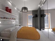 Sypialnia z betonem - zdjęcie od Shift plus Deco