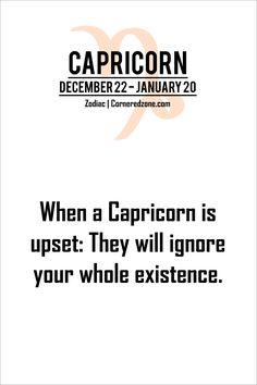 Ignoring a capricorn man