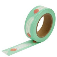 Mint Feather Washi Tape - Layer Cake Shop