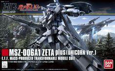 "Bandai Hobby 1/144 HG HGUC Zeta Plus ""Gundam Unicorn"" Model Kit"