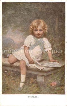 Munk M. Wien Vienne Nr. 880 Goldelse Buch Kind  Kat. Kuenstlerkarte 0