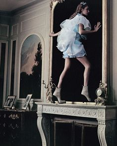Natalia Vodianova in 'Alice in Wonderland', photographed by Annie Leibovitz for Vogue US.