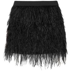 mason by michelle mason Feather Mini Skirt (2,485 MXN) ❤ liked on Polyvore featuring skirts, mini skirts, black, ostrich skirt, elastic waist skirt, mason by michelle mason, short mini skirts and short long skirts