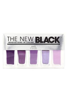 """THE NEW BLACK 'Haze - Ombré' Nail Polish 5-Piece Set available at Nordstrom"" i don teven care that this is supposed to be for the whole ombre thing. i just really love all these colors"