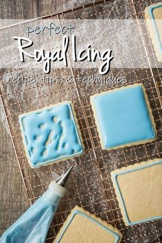 Royal Icing for Decorating: easy recipe, dries hard -Baking a Moment - Best royal icing recipe. So easy it's practically foolproof! Pipes smooth and dries hard. Royal Frosting, Sugar Cookie Royal Icing, Royal Icing For Piping, Best Royal Icing Recipe For Cookies, Royal Icing Transfers, Royal Icing Recipes, Royal Icing Flowers, Royal Icing Recipe Without Meringue Powder, Decorated Cookies