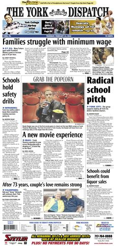 York Dispatch front page for Feb. 14, 2013