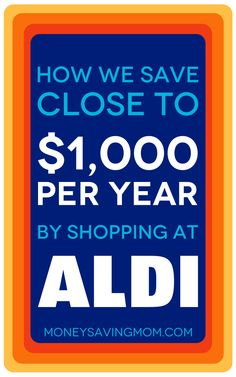We save SO much money by shopping at ALDI. If you've not shopped at ALDI yet, this article will definitely convince you to give it a try!