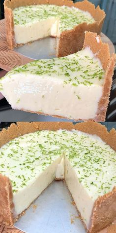 Super Easy World Delicious Lemon Pie - pizza- Torta de Limão a Mas Deliciosa do Mundo Super Fácil – pizza The Worlds Super Easy Delicious Lemon Pie – … - My Recipes, Dessert Recipes, Cooking Recipes, Dessert Sans Gluten, Good Food, Yummy Food, New Cake, Sweet Cakes, Christmas Desserts