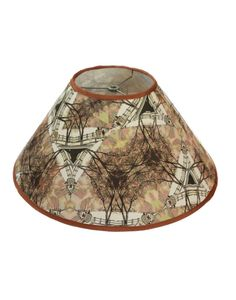 Cone shaped fabric lampshade 6x16x9 H. handmade by Gingerartlamps, $90.00