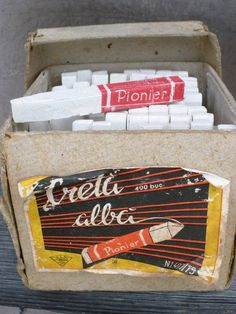 Pionieer school chalk, screechy on the black board, dusty at erasing it with dry sponge, sourish - strong smell when wet. Socialist State, Socialism, Central And Eastern Europe, Old Pictures, Retro, Childhood Memories, Vintage, Fun, Money