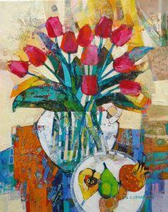 'Still Life With Tulips' by Alicja Urbaniak