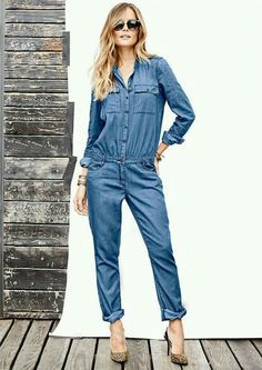 Jenni Denim Jumpsuit - View All Jeans - Jeans - Alloy Apparel Jeans For Tall Women, Tall Jeans, Clothing For Tall Women, Jumpsuit Casual, Jumpsuit Outfit, Denim Jumpsuit, Combi Jean, Denim Overall, Casual Outfits