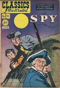 Classics Illustrated Comic Books | Classics-Illustrated-Comic-Book-51-The-Spy-HRN-51-Edition-1A-VERY-GOOD ...
