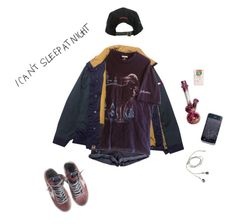 """""""undeclared"""" by starg1rl ❤ liked on Polyvore featuring Stussy and Golden Goose"""