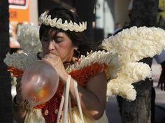 Angel made of Condoms- Condom Costume