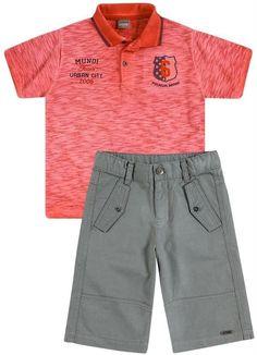Conjunto Camisa Polo e Bermuda Cargo Brandili Mundi 448729c5c996c