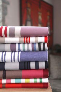 Assortiment de linge basque Jean-Vier -  Basque linen assortment Jean-Vier >> http://www.jean-vier.com/