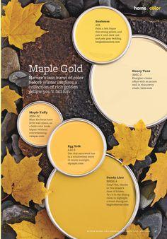 Color palette - maple golds.