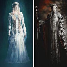 Thranduil and Gandalf, Concept Art by Weta