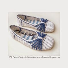 Sophie and Me: BLUE-BOW CROCHET SLIPPERS