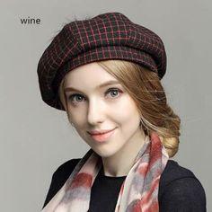 Ladies Woolen Top Hats Fascinators Autumn Winter Fashion Ball British Elegant Wild Korean Female Wool Hat Beret for Tea Party