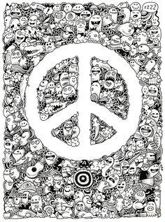 Peace Doodle Art Print