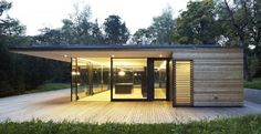 Modern Home Glass and Wood  Haus Hainbach