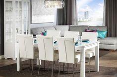 Valkoiset tuolit + pöytä