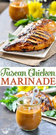 Tuscan Chicken Marinade | Grilled Chicken Recipes | Chicken Breast Recipes | Healthy Dinner Recipes | Dinner Ideas | Easy Dinner Recipes | Marinade Recipe | Marinades for Chicken