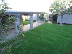 Backyard Artificial Grass Installation done by SYNLawn LA. 866-739-LAWN (5296) www.discountartificialgrass.com