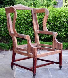 english sheraton wing chair