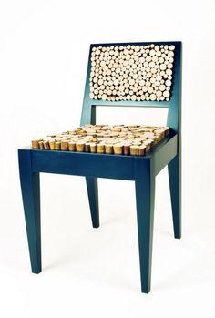 """Стул """"Squishy"""" с поверхностью сидения в виде деревянных чурбачков"""