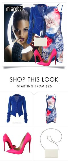 """SHOP - MissRebel"" by ladymargaret ❤ liked on Polyvore featuring Christian Louboutin and Nine West"