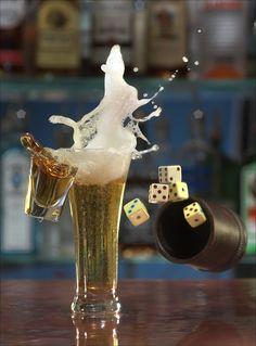 """drink still life """"Boiler Maker"""" by Jack Long People Photography, Still Life Photography, Creative Photography, Art Photography, Splash Photography, Spirit Drink, Modernist Cuisine, Jack Long, Champagne Taste"""